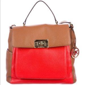 Michael Kors Sloan Turn lock leather satchel bag